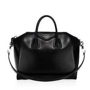 💗 black silver Givenchy Antigona Medium Excellent